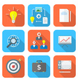 Color flat style creative business process icons vector