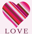 Color ornamental heart valentine post card vector