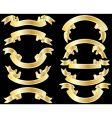 Golden ribbons vector
