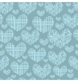 Seamless pattern with embroidery of hearts vector