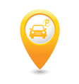 Car parking icon on yellow pointer vector