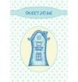 Sweet home - card vector