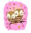 Cute owl postcard vector