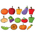 Healthy fruits and vegetables vector