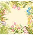 Springtime colorful flower herb garden party vector