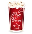 Popcorn cup vector