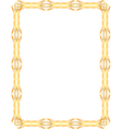 Gold frame vector