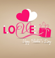 Love typography paper concept vector