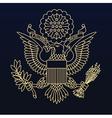Us passport seal gold on blue vector