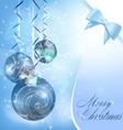 Christmas balls on blue vector