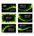Set of six fiery cards vector