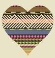 Ornamental heart valentine poster vector