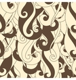 Seamless pattern hair curls and waves vector