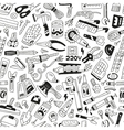 Work tools - seamless background vector
