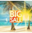Final summer sale design template with beach vector