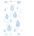 Abstract textile blue rain drops vertical seamless vector