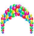 Coloured party balloons vector