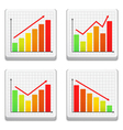 Graphs icons vector