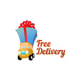 Icon free delivery - vector