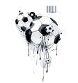 Liquid graffiti football vector
