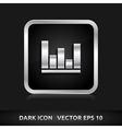 Graph icon silver metal vector