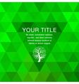 Green geometric background vector