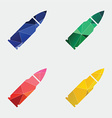 Bullet icon abstract triangle vector