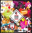 Dubstep flyer design elements vector