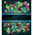 Floral invitation card hand drawn retro graphic vector
