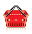 Object empty shopping basket vector