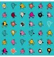 Cartoon birds seamless pattern 2 vector