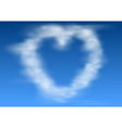 Heart shaped clouds vector