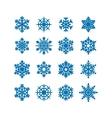 Snowflakes icon collection vector