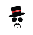 Face with mustache with red hat vector