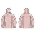 Down jacket vector
