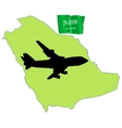 Fly me to the saudi arabia vector