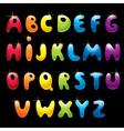 Glossy alphabet vector