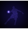 Abstract basketball player silhouette vector