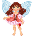 Pretty fairyl girl with magick wand vector