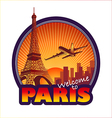 Travel paris vector