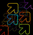 Background with colorful arrows vector