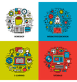 Workshop interactive education e-learning tutorial vector