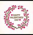 Creative happy valentine day greeting design vector