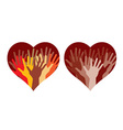 Hearts with many helping hands vector