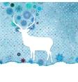 Santa claus deer vintage christmas card eps 8 vector