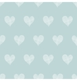 White lace hearts textile texture seamless pattern vector