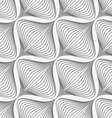 White diagonal wavy net layered on gray seamless vector