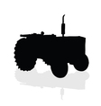 Tractor black silhouette vector