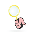 Magnifying glass in hand vector