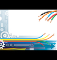 Industry automation background vector